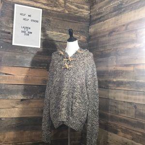Brown/Cream Twine Button Polo Ralph Lauren Sweater